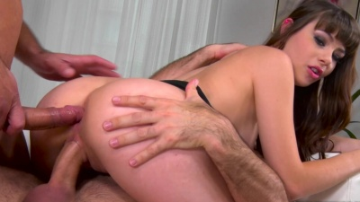Double barrel BJ & double penetration with french girl Luna Rival