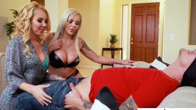Bisexual Nina Elle & Aaliyah Love fucking a lucky stud for his bday