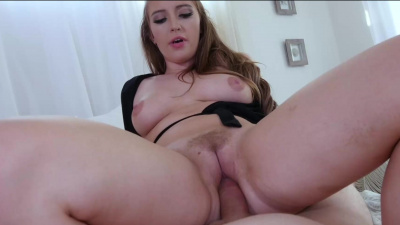 Harley Jade stretches her pussy on daddy's dick close up