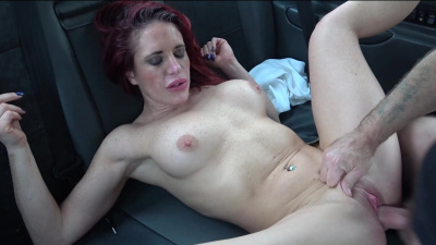 Diverse Stacey deepthroat blowing cab driver's dick & fucking in the backseat