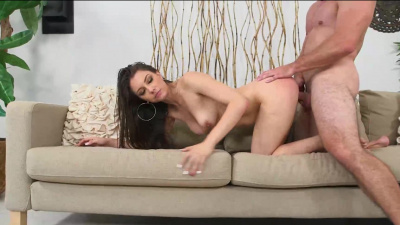 Pretty dancer Alexis Rodriguez rides dick as her big ass bounced up and down