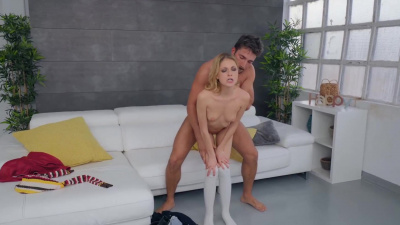 Petite Rebecca Volpetti craves big dick in her tight holes