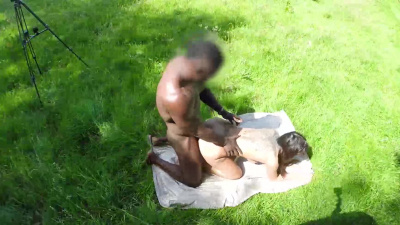 Princess Jasmine having sex with bbc in the nature