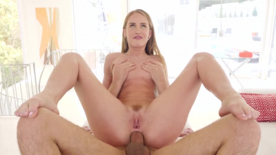 Daisy Stone toys her ass with some silver toys before having anal sex
