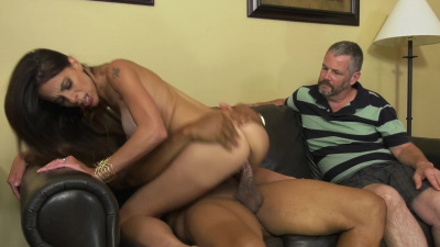 Disabled man hires black gigolo to keep her wife Eva Long happy