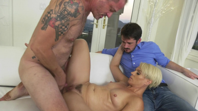 Helena Locke loves every minute of sex as her cuckold husband can only watch someone else doing the job