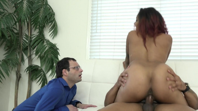 Amazing ebony Daisy Ducati cucks her boyfriend with a black man