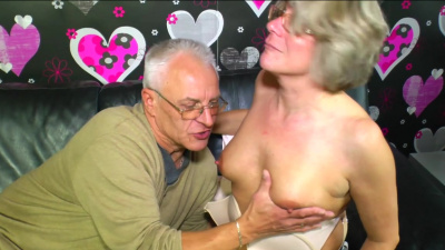 Amateur german granny Karin cheats on her husband with another old fuck