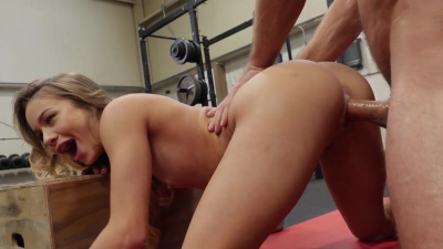 Naomi Swann has a workout before getting her pussy creampied multiple times
