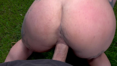Punk babe Sabien DeMonia has intense sex outdoors