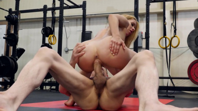 Lilly Lit gets horny rolling around with her trainer