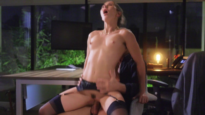 Amazing Paige Owens playing submissive girl with her boss