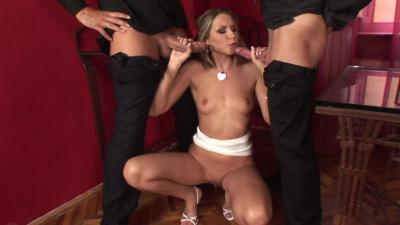 Cherry Jul indulgse in double penetration scene