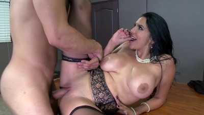Missy Martinez gets feeded with her boss's cock between her tits & pussy lips